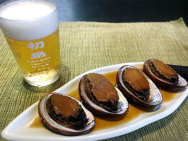 トコブシ貝 1000円(一皿5、6個乗ります) 煮付け